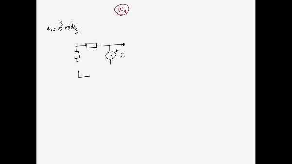 Teoría de Circuitos 1. Lección 6. 4-2 Ejemplo de análisis de un circuito para 2 frecuencias