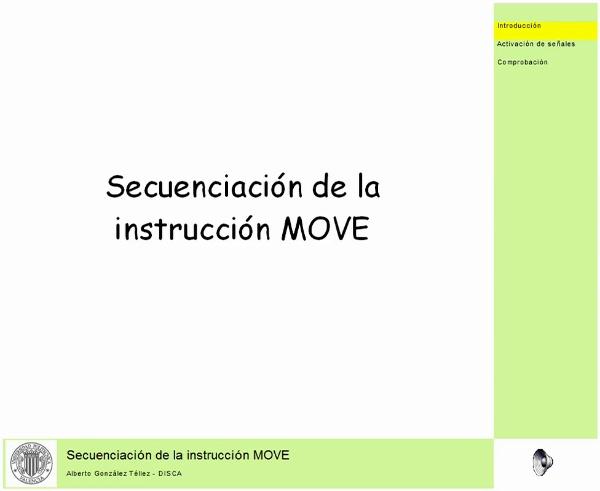 Secuenciación de la instrucción MOVE