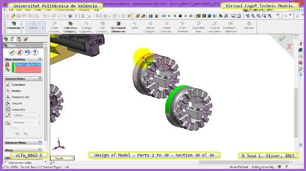 Creación Virtual Modelo Lego Technic 8862-1 ¿ Piezas 2 a 70 ¿ 30 de 36