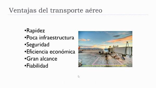Transporte aéreo, elementos y condicionantes