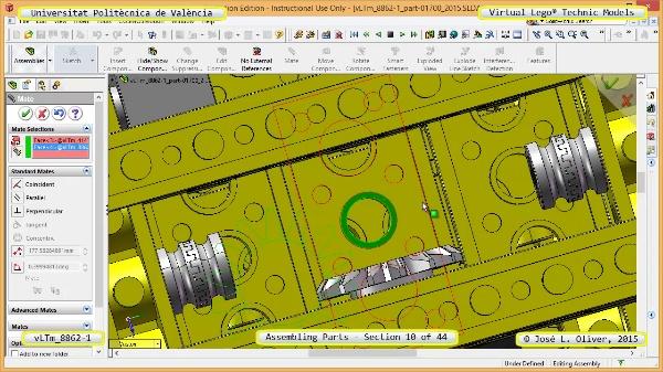 Creación Virtual Modelo Lego Technic 8862-1 ¿ Montaje Modelo ¿ 10 de 44