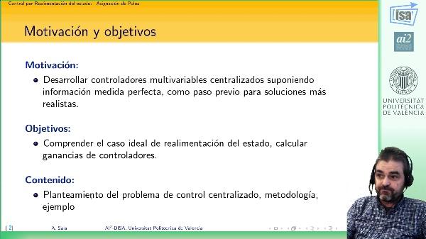 Control por realimentación del estado: asignación de polos (introducción)