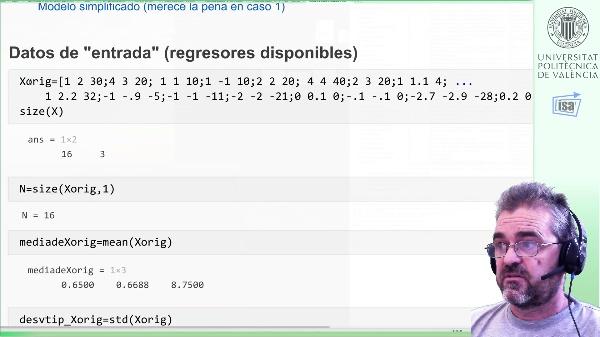 Regresión lineal: centrado, escalado, pesudoinversa, modelo de predicción