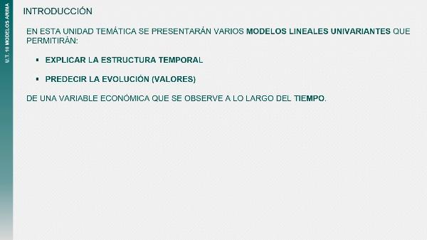 UT10T1 Modelos de series temporales