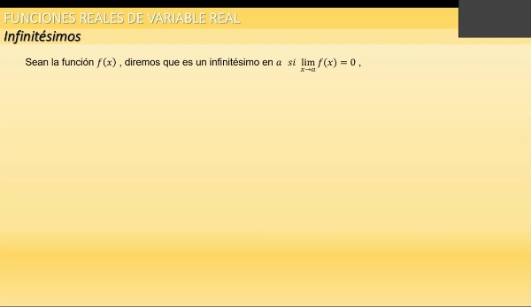 M1-ELE-127b Infinitésimos - Infinitos