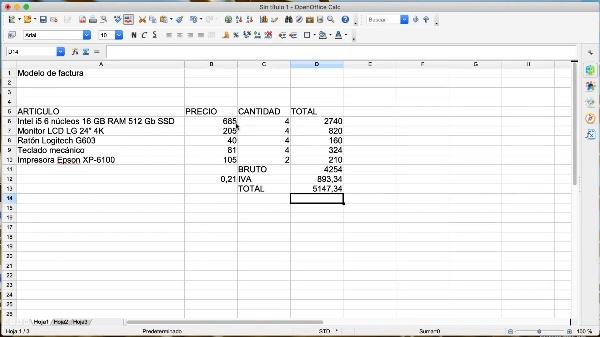 OpenOffice Calc: Aplicación de formatos a las celdas