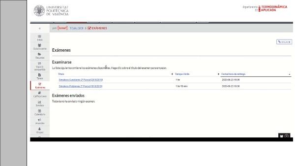 Indicaciones examen online Transmisión de Calor 19-20