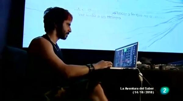 Entrevista en la TVE2 a Emanuele Mazza y Laboratorio de Luz