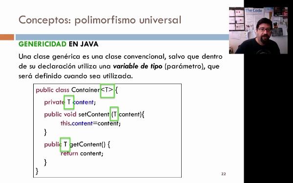 Tema 1. Polimorfismo paramétrico o genericidad