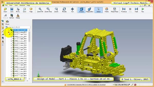 Creación Virtual Modelo Lego Technic 8862-1 ¿ Pieza 1 ¿ 20 de 44