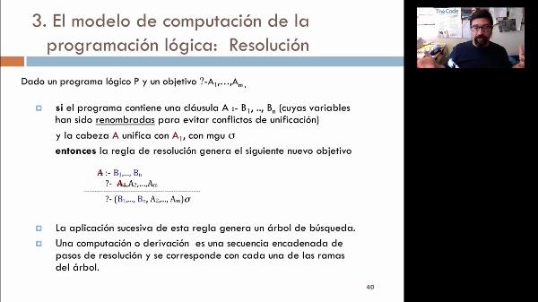 LTP. Tema 4. Programación lógica: modelo de ejecución. Resolución (y II)