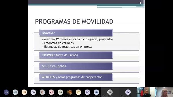Presentación programas internacionales en la FADE