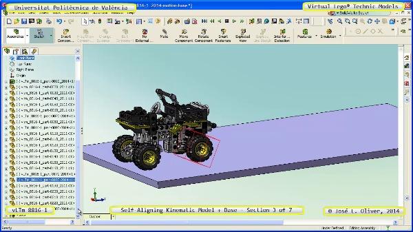 Simulación Dinámica Lego Technic 8816-1 sobre Base ¿ 4 de 7