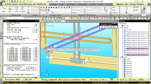 Simulación Cinemática Thang_Computer-Mechanisms- ... -v8r5 con Recurdyn - CompM - 3 de 3