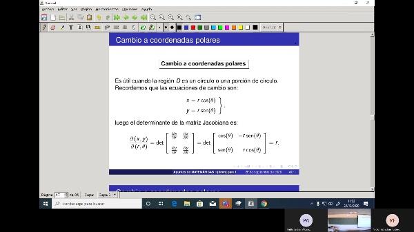 Matemáticas 1 GIOI grupo A  Clase 31 (Integrales dobles 3)