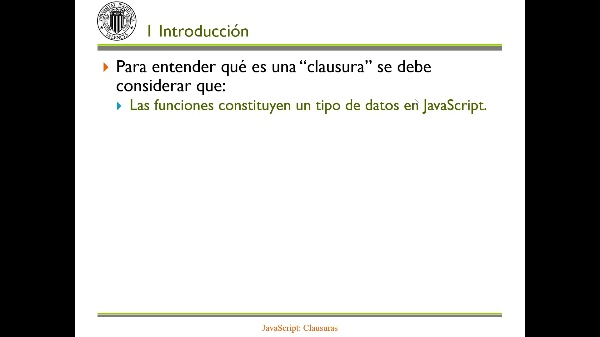JavaScript: Clausuras