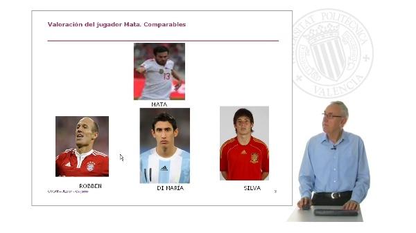 Valoración del futbolista Juan Mata (Excel)