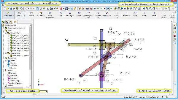 Solución Cinemática Simbólica a-z-1133 con Mathematica - 04 de 26