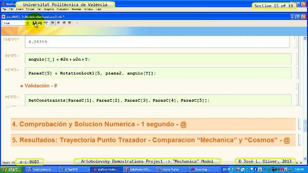 Simulación Mecanismo a_c_0683 con Mechanica - 15 de 19