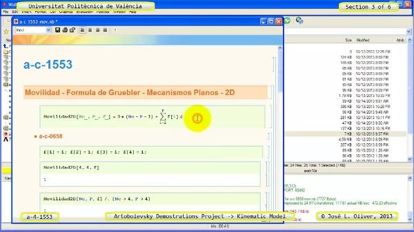 Simulación Mecanismo a_4_1553 con Cosmos Motion - 3 de 6