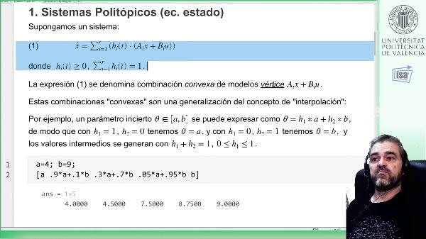 Control robusto (coste LQR garantizado) de procesos lineales politópicos con desigualdades matriciales lineales (LMI): teoría y ejemplo Matlab