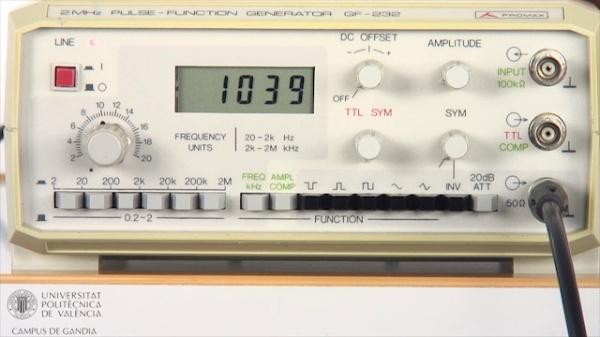 Generador de Funciones. Offset, Simetría y Atenuador