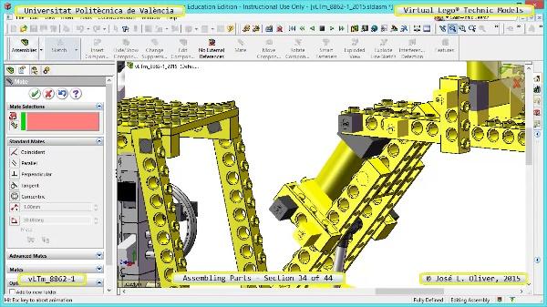 Creación Virtual Modelo Lego Technic 8862-1 ¿ Montaje Modelo ¿ 34 de 44