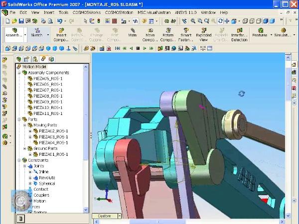 Montaje de un robot ABB con Solidworks - tramo O7 de 10