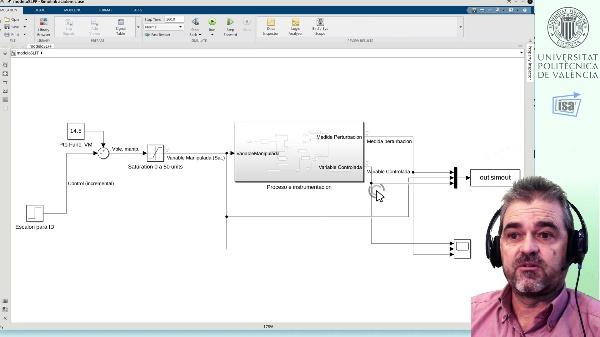 Prealimentación estática: ejemplo Matlab/Simulink perturbaciones medibles