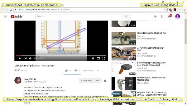 Simulación Cinemática Thang_Computer-Mechanisms- ... -v8r5 con Recurdyn - CompM