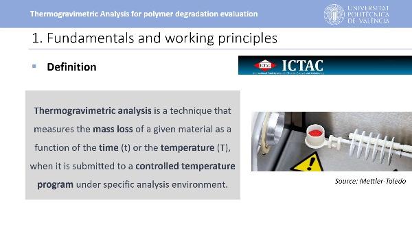 Thermogravimetric Analysis for polymer degradation evaluation