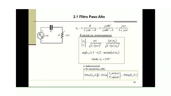 Electronica GTDM. Teoria tema 04-1. Condensadores, Filtros RC FPB y FPA. Docencia VIRTUAL.