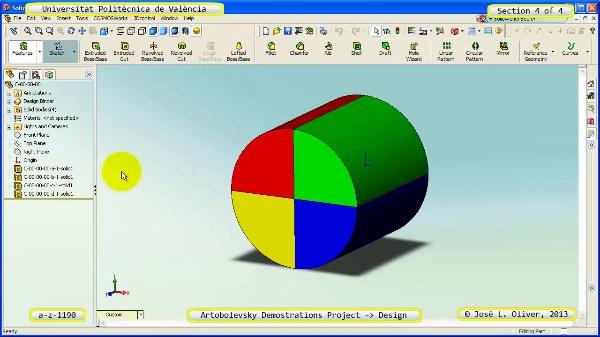 Creación Virtual Mecanismo a_z_1196 con Solidworks - 4 de 4