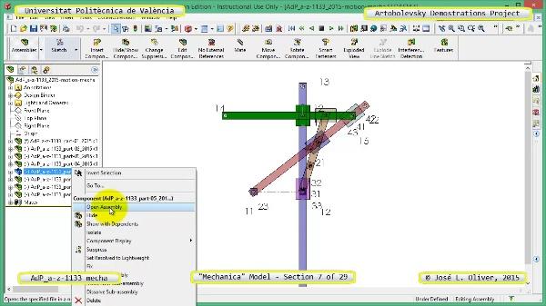 Simulación Mecanismo a-z-1133 con Mechanica - 07 de 29
