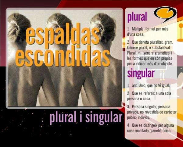 Tenim paraula: Singular i plural