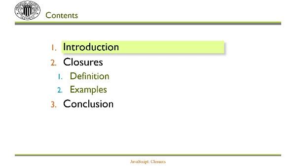 JavaScript: Closures