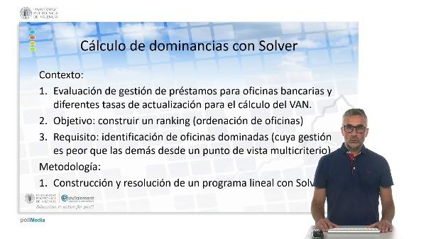 Cálculo de dominancias con Solver