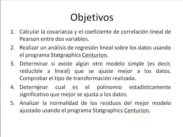 Comparación de modelos de regresión con Statgraphics