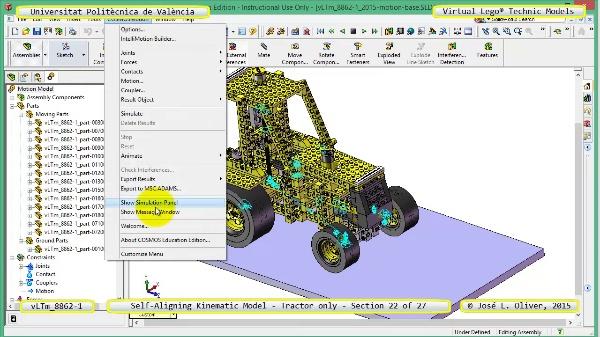 Simulación Dinámica Lego Technic 8862-1 - Tractor - sobre Base - 22 de 27
