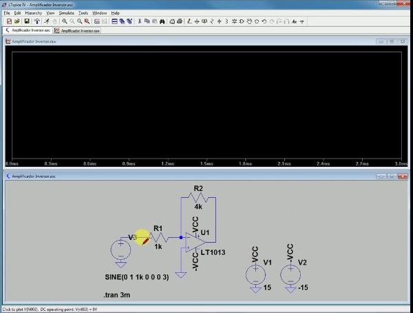 Simulación de un Amplificador Inversor con y sin condensador