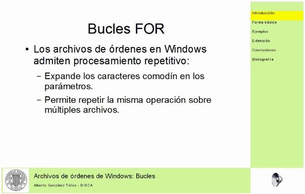Archivos de órdenes en Windows: Bucles