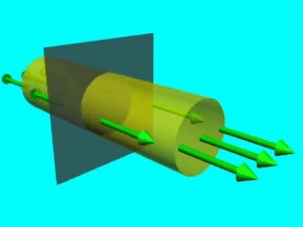 GaussS_4: Vector diferencial de superficie en  la superficie sobre la que se aplicará el teorema de Gauss a un plano conductor infinito