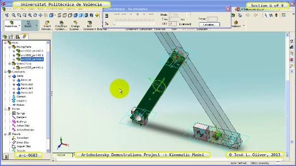 Simulación Mecanismo a_c_0683 con Cosmos Motion - 6 de 9