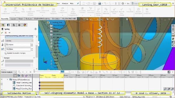 Simulación Dinámica de Tren de Aterrizaje con Solidworks Motion v2017 - 11 de 12