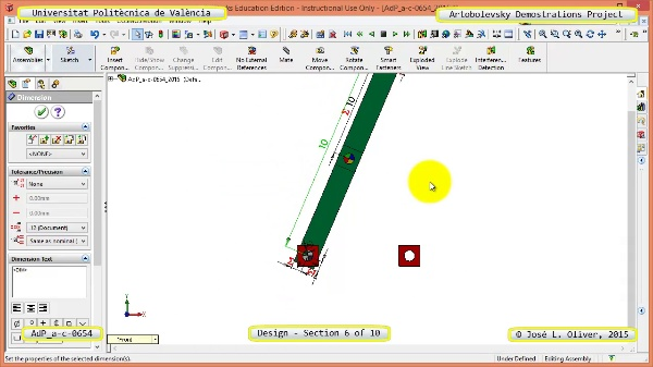 Creación Virtual Mecanismo a-c-0654 con Solidworks - 06 de 10