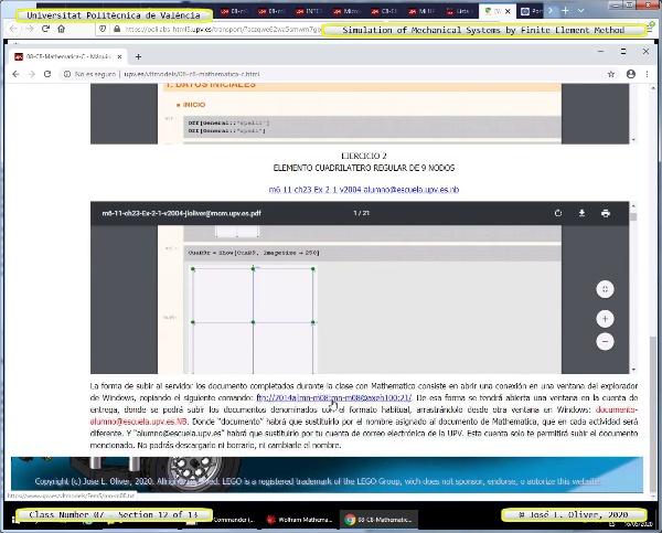 Métodos Numéricos para Análisis Estructural ¿ MN ¿ 2020 ¿ Clase 07 ¿ Tramo 13 de 13