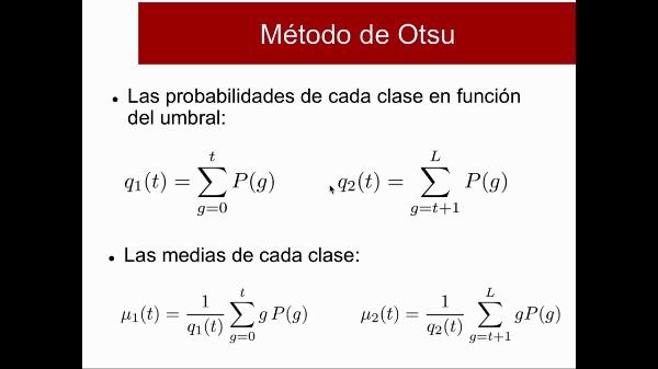 Segmentación Binarización OTSU