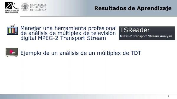 Análisis de un Múltiplex de Televisión Digital Terrestre MPEG-2 Transport Stream