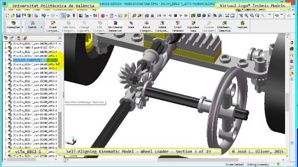 Simulación Cinemática Modelo Lego Technic 8862-1 -Cargador- 03 de 19