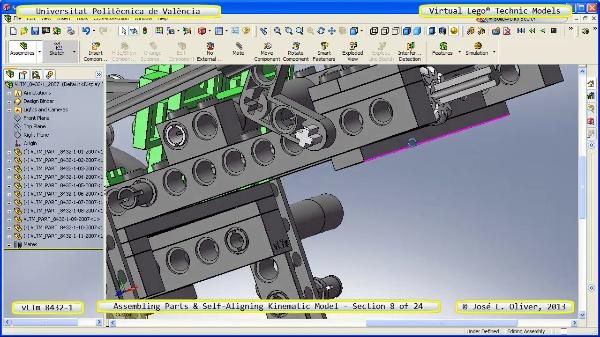 Simulación Cinemática Lego Technic 8432-1 con Cosmos Motion ¿ 08 de 24 - no audio